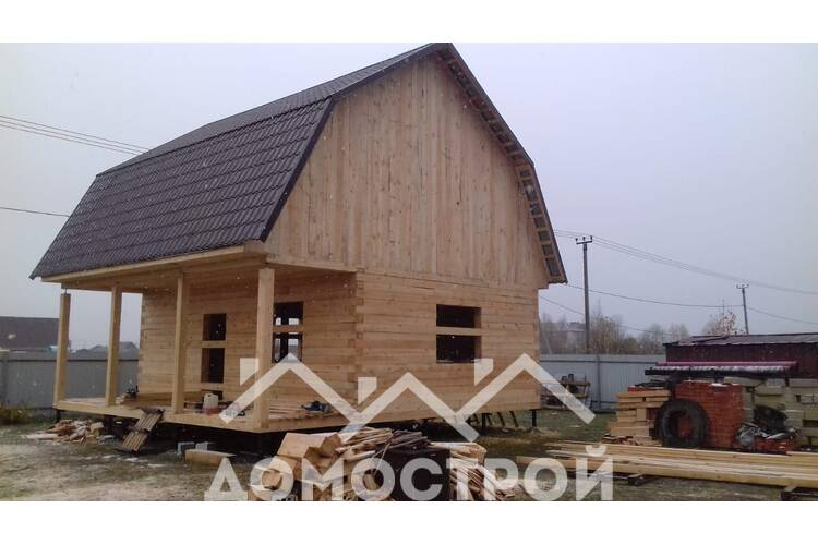 Закончили дом 6х6 в Тобольске
